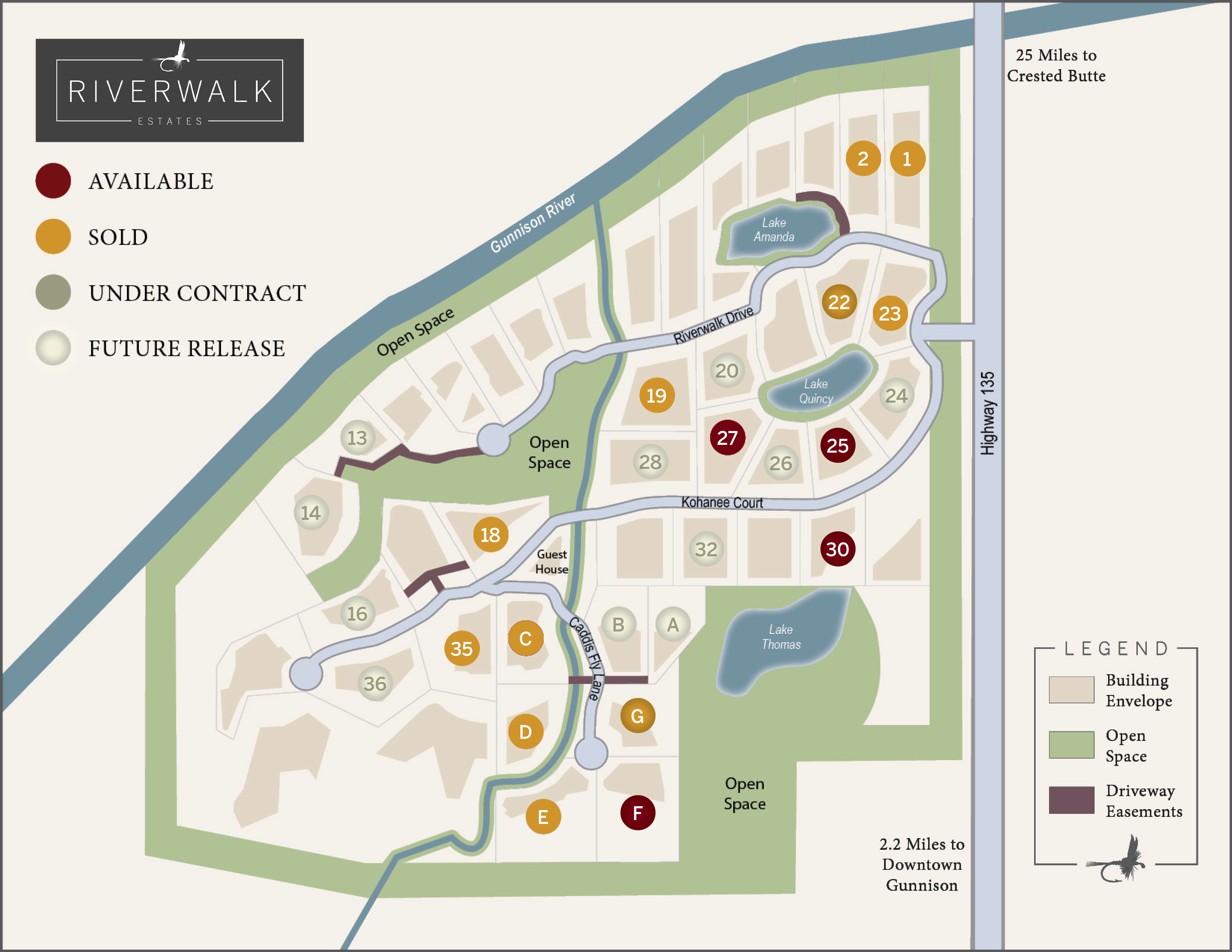 Gunnison Riverwalk Estates Availability Map